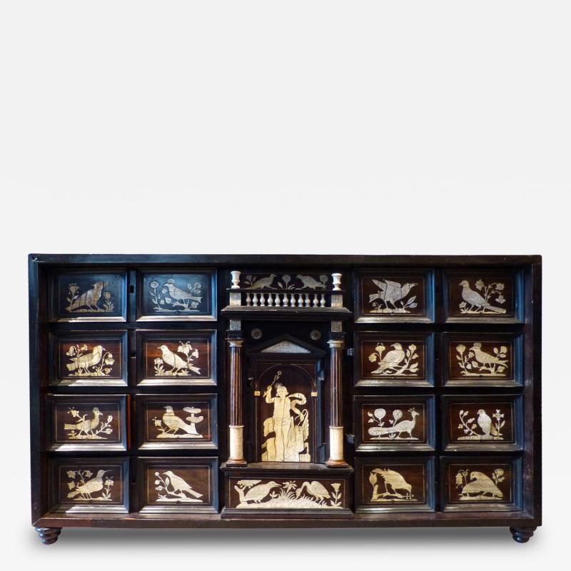 Italian Ebonized and Inlaid Table Cabinet
