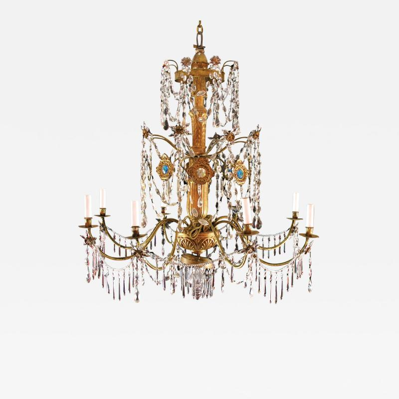 Italian Eight Light Chandelier