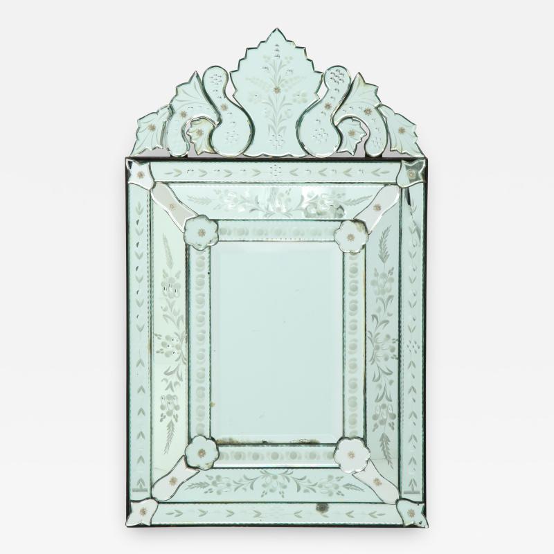 Italian Etched Venetian Mirror