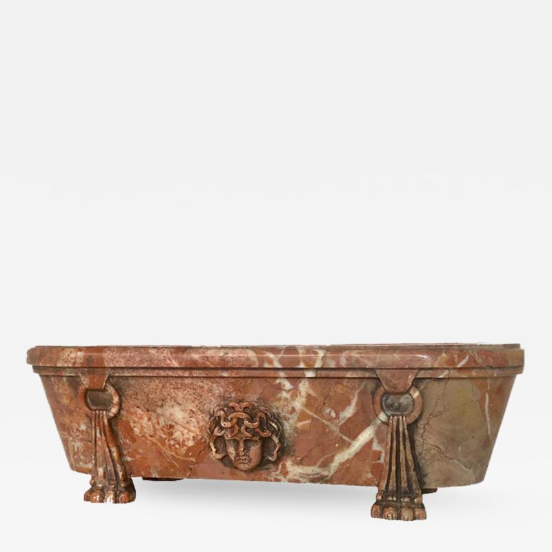 Italian Grand Tour Model of a Breccia Marble Bath