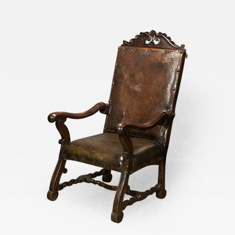 Italian Leather Armchair