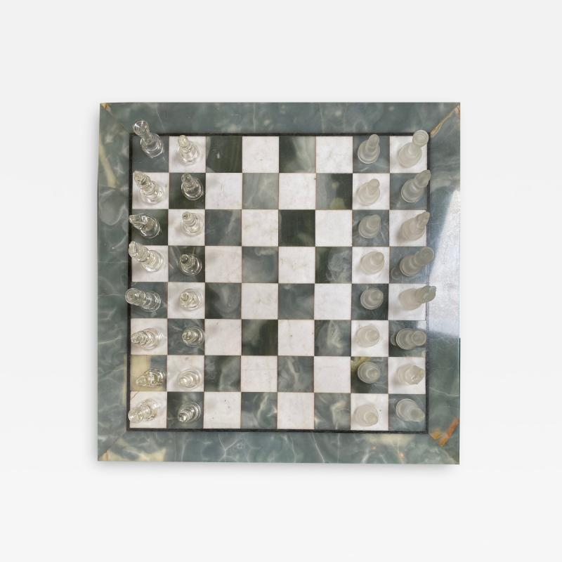 Italian Marble Chess Board Early 20th Century