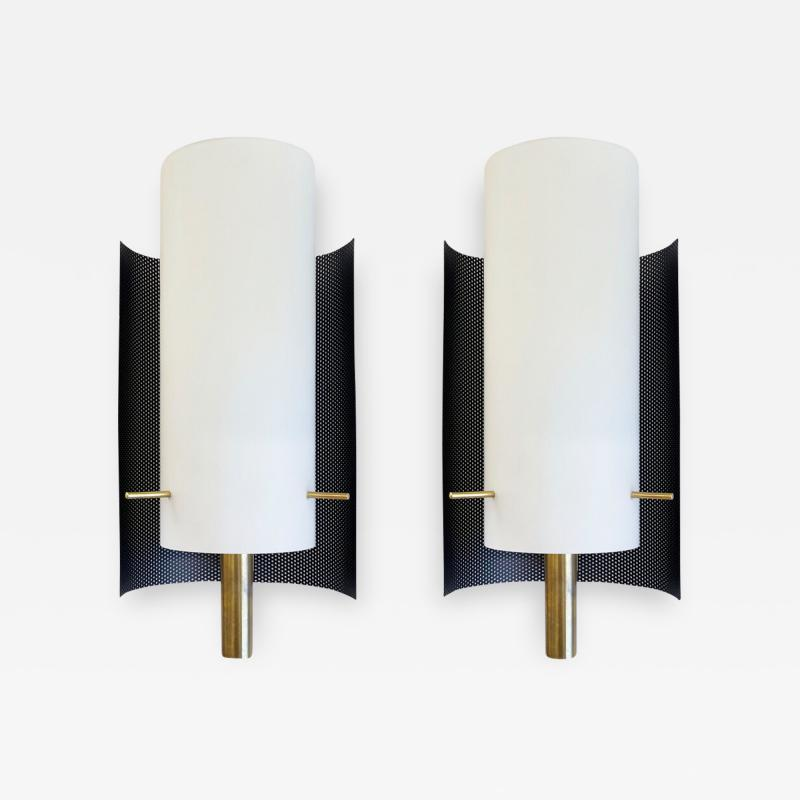 Italian Mid Century Perforated Sconces 2 Pairs Available