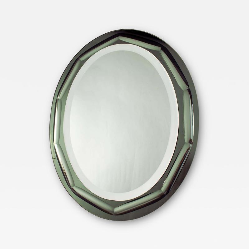 Italian Mirror in the Style of Fontana Arte 1970s