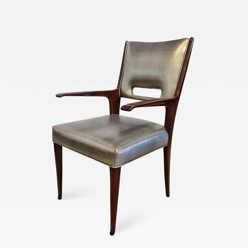 Italian Modern Mahogany Arm Desk Chair Guglielmo Ulrich