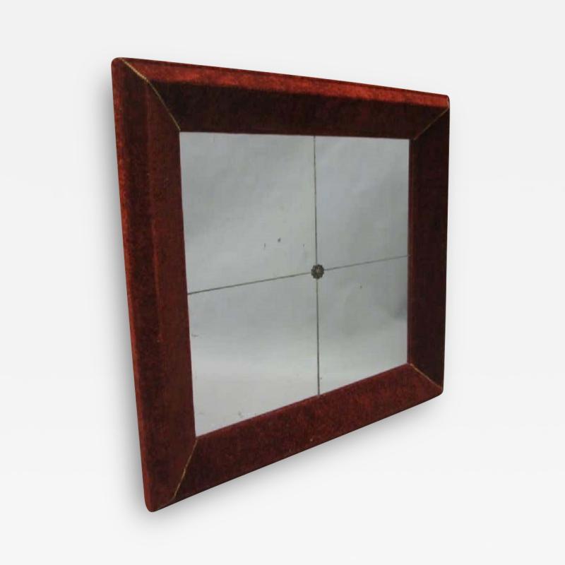 Italian Modern Neoclassical Venetian Wall Mirror with Antique Red Velvet Frame
