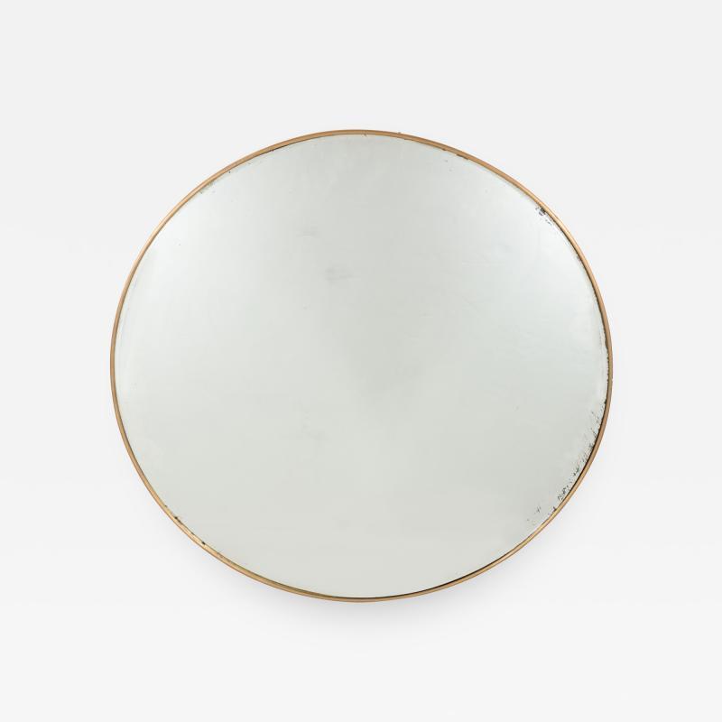 Italian Modernist Brass Framed Mirror