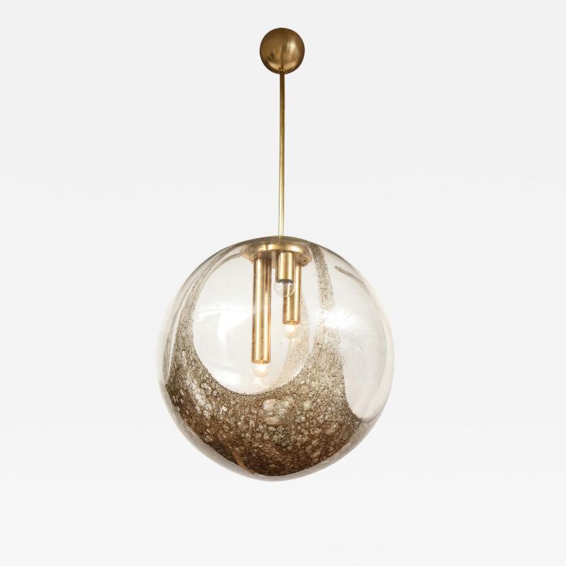 Italian Murano 1960s Blown Glass Globe Chandelier