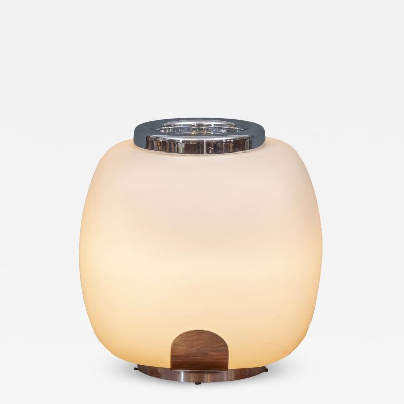Italian Opacque Glass Table Lamp Jardiniere