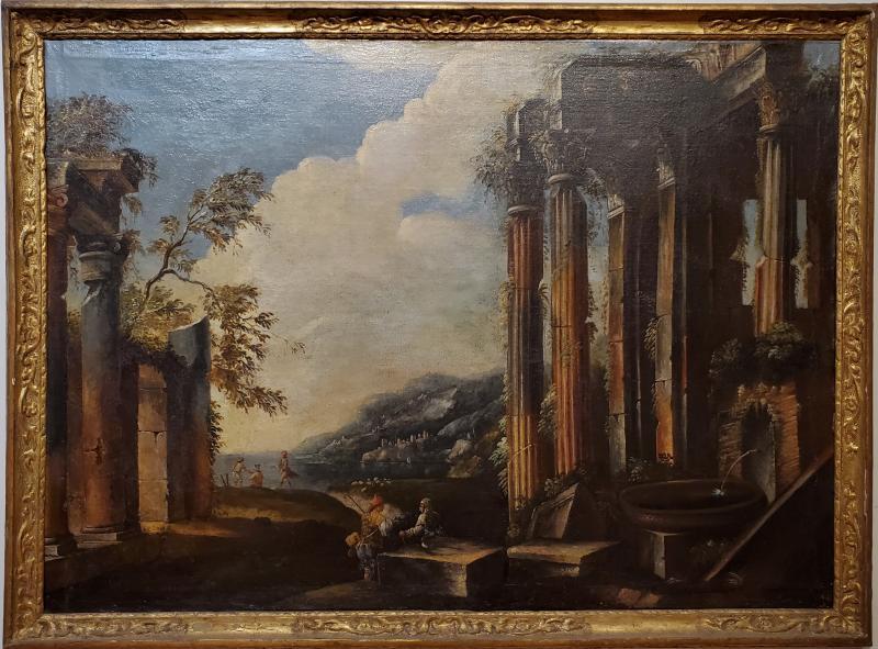 Italian School Italian School Capriccio Oil Painting of Roman Ruins