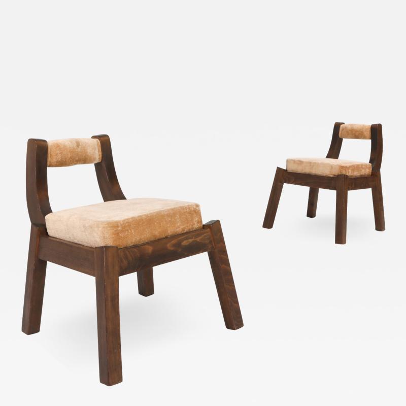 Italian Walnut Dining Chairs 1950s
