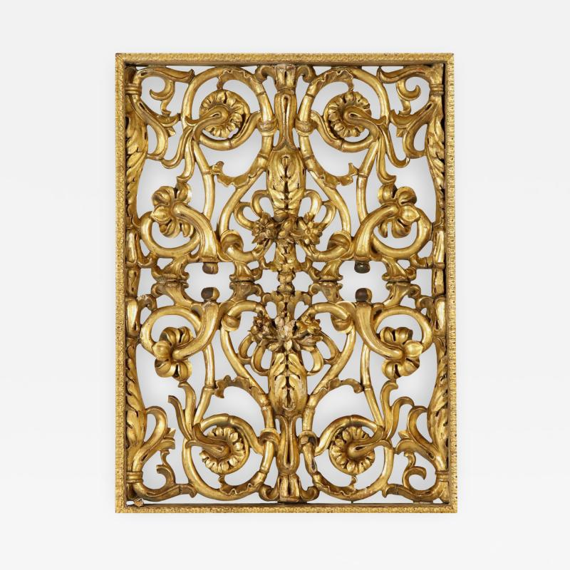 Italian giltwood overdoor ornament panel 18th century