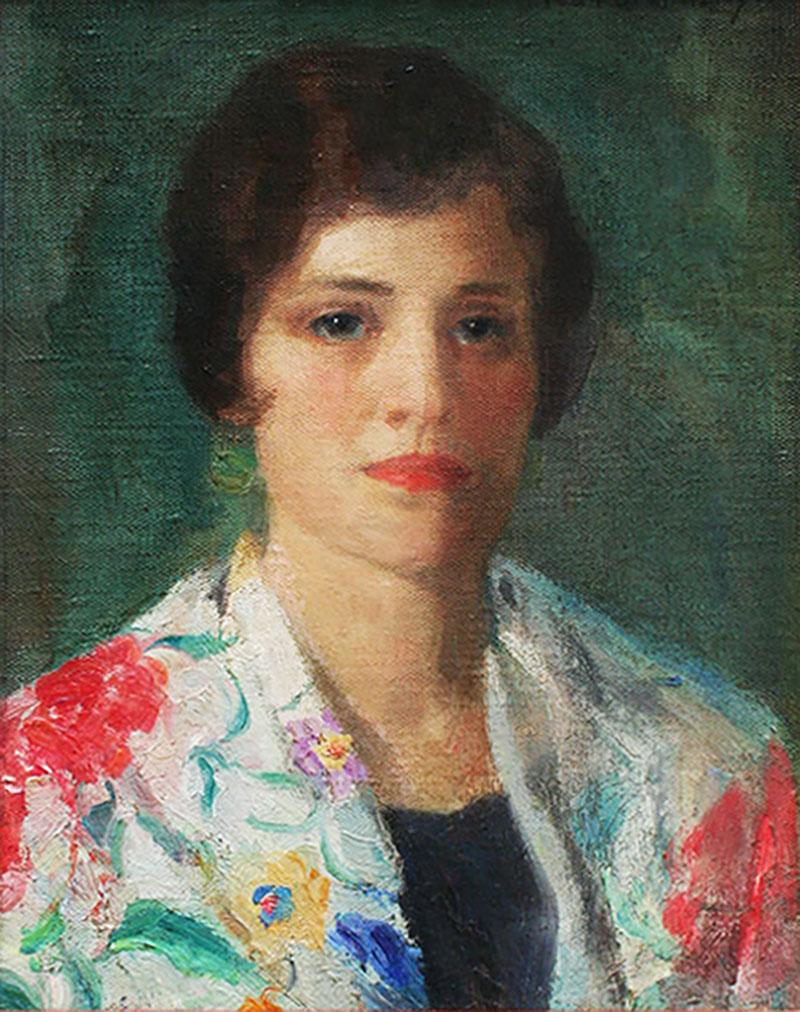 Ivan Gregorewitch Olinsky Portrait of a Young Woman