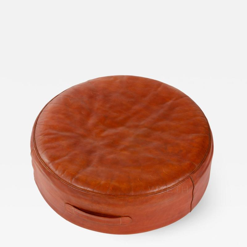 Ivan Schlechter Red Leather Stool
