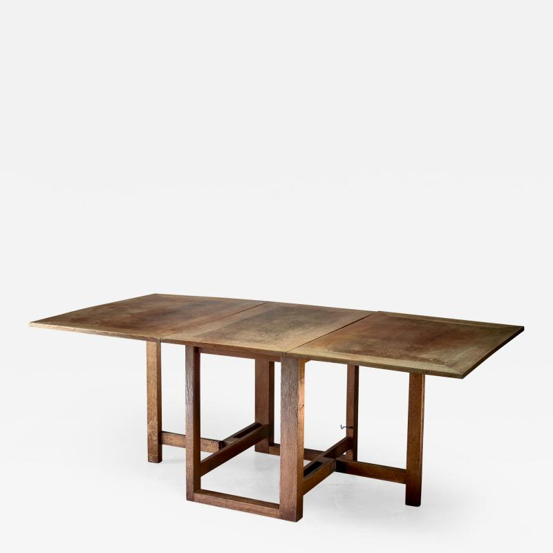 J A Muntendam Muntendam drop leaf dining table for LOV Dutch 1920s