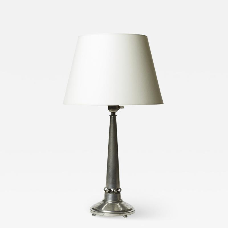 J L Hultman Table lamp in pewter by J L Hultman for Svenskt Tenn