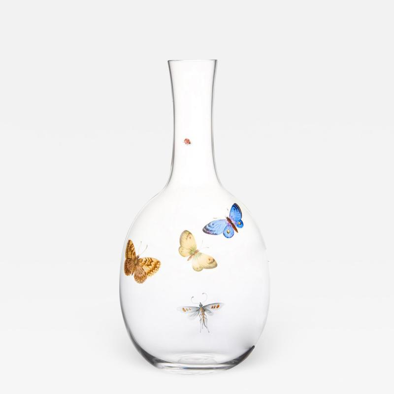 J L Lobmeyr Balloon Drinking Set No 279 Butterfly Carafe by Ted Muehling