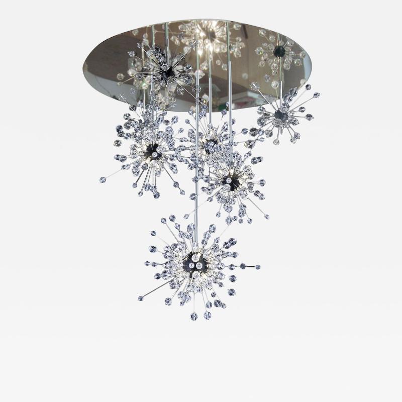 J L Lobmeyr Metropolitan Sputnik Cascade Chandelier by Hans Harald Rath