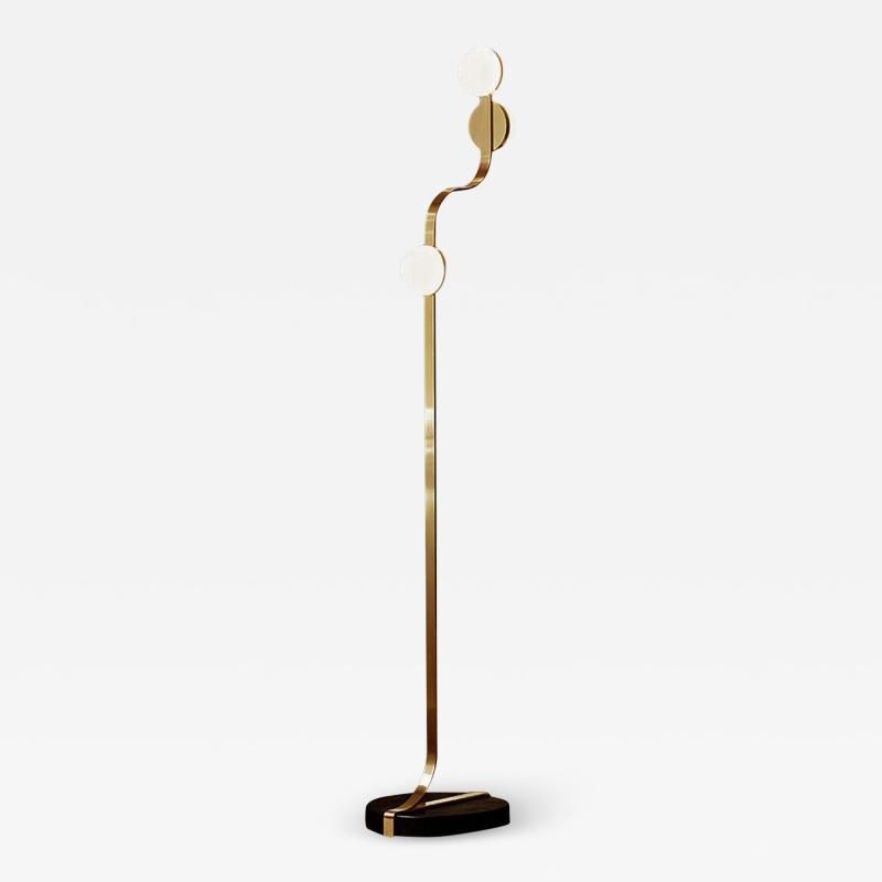 J L Lobmeyr Script Floor Lamp by Bodo Sperlein