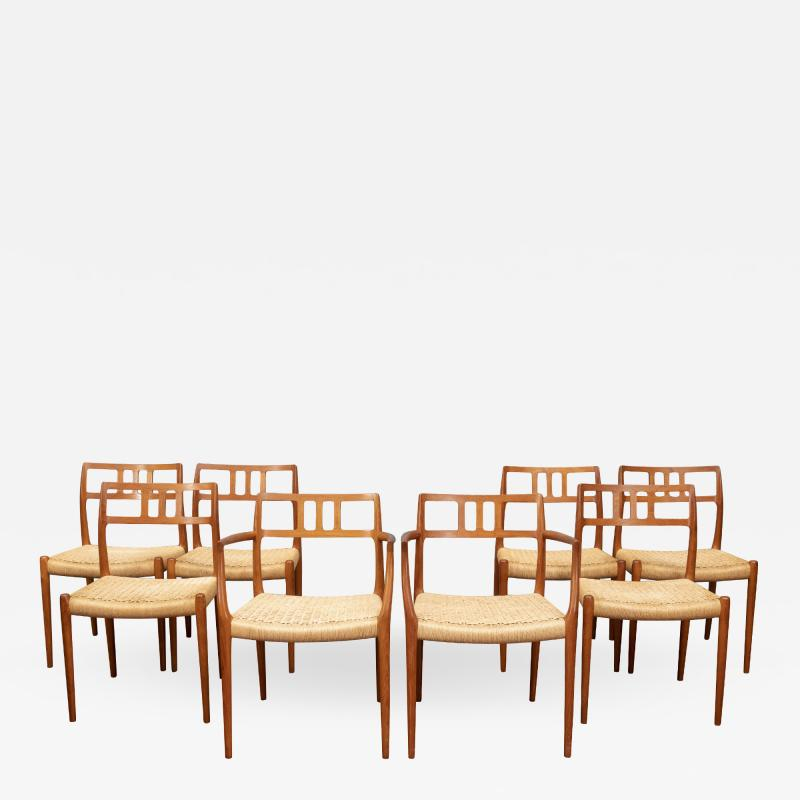 J L M llers M belfabrik Scandinavian Modern Niels O Moller Model 79 Dining Chairs