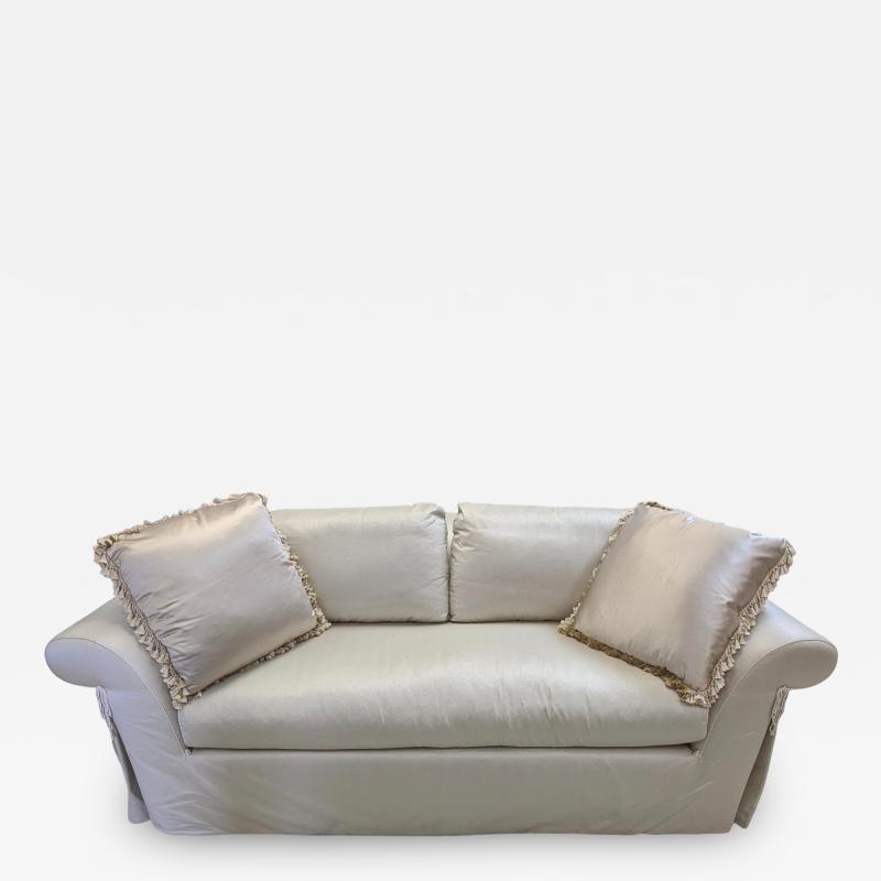 J Robert Scott J Robert Scott Silk Upholstered Down Filled Sofa