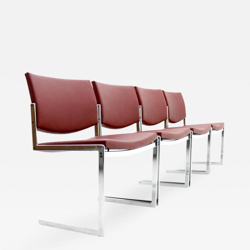 J rgen Kastholm Set of Four J rgen Kastholm Dining Chairs JK 770 Kill Int Denmark 1970