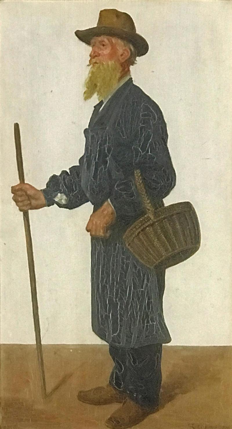 Jacob Kornerup 1825 1913 Portrait of Carl Petersen 1906
