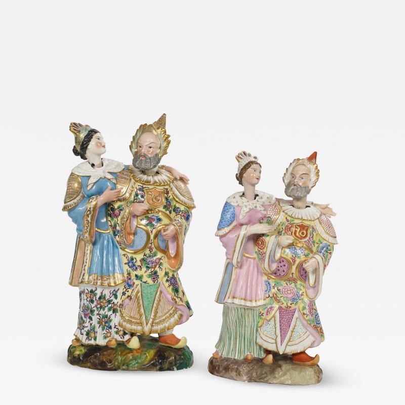 Jacob Petit A Fine Pair of Nodder Porcelain Figures