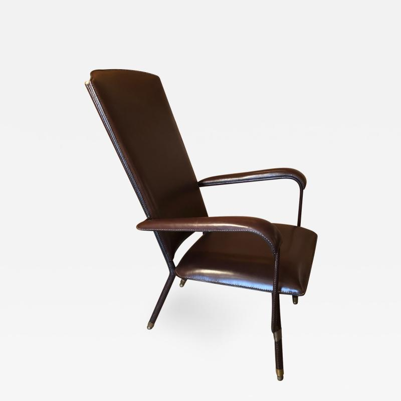 Jacques Adnet 1950s Leather Armchair