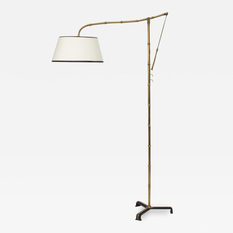 Jacques Adnet A cr maill re bronze floor lamp Jacques Adnet Compagnie des Arts fran ais