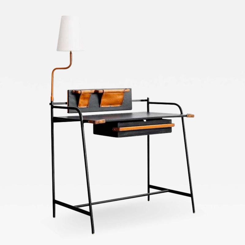 Jacques Adnet JACQUES ADNET DESK WITH LAMP