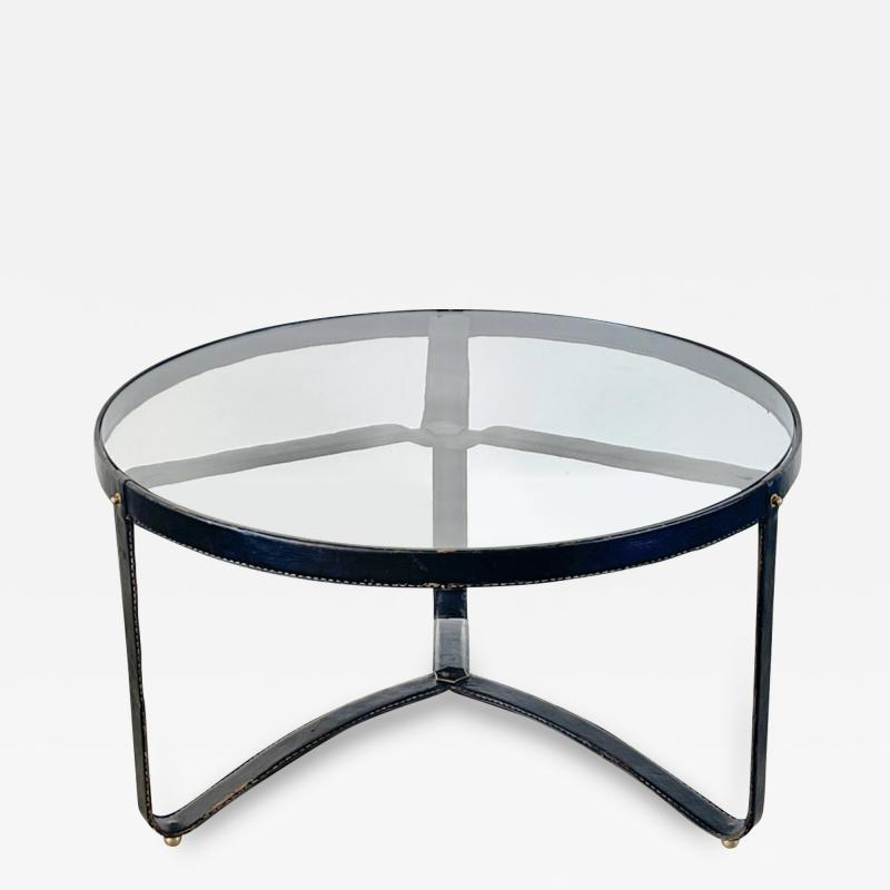 Jacques Adnet JACQUES ADNET ROUND COFFEE TABLE