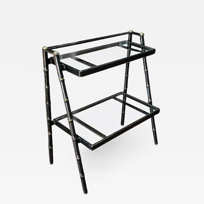 Jacques Adnet Jacques Adnet French Modernist Leather Wrapped Shelves