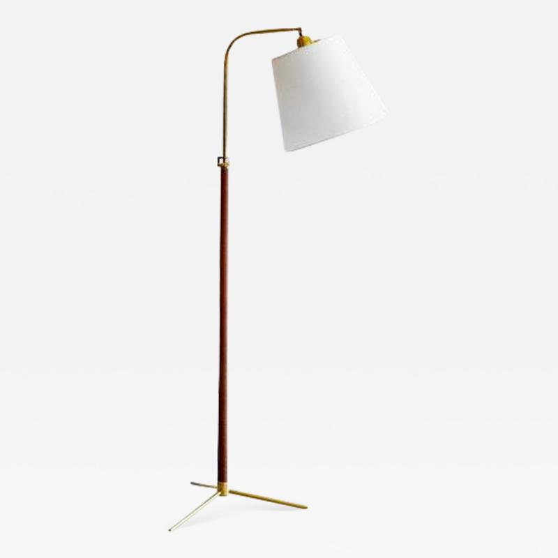 Jacques Adnet LEATHER FLOOR LAMP IN THE STYLE OF JACQUES ADNET