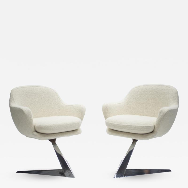 Jacques Adnet Mid century pair of armchairs attributed to Jacques Adnet 1960s