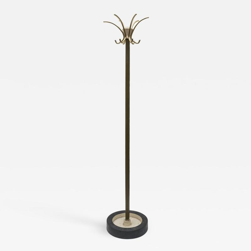 Jacques Adnet Stitched Leather coat stand by Jacques Adnet