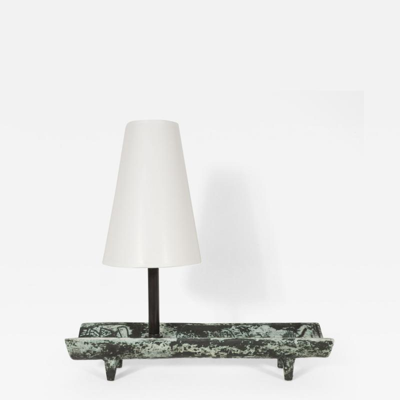 Jacques Blin Rectangular Tray Lamp by Jacques Blin