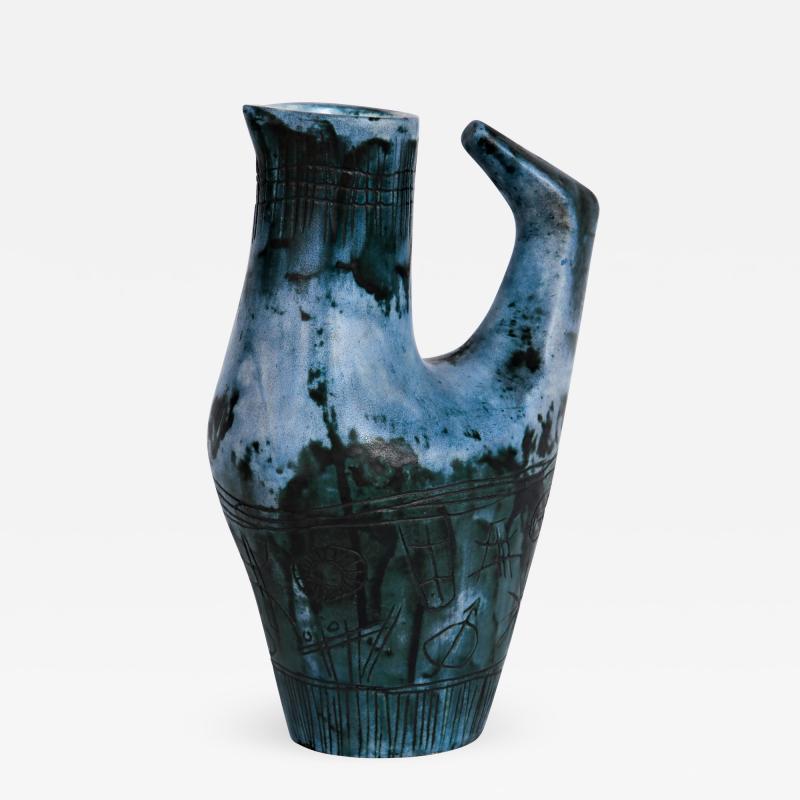 Jacques Blin Vase Oiseau Bleu