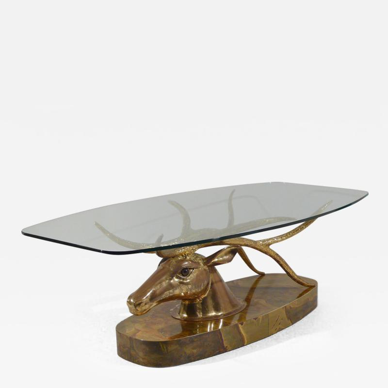 Jacques Duval Brasseur Very Rare Deer Coffee Table
