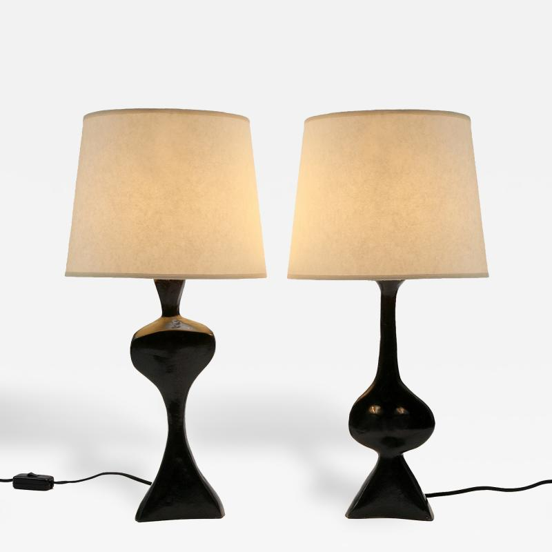 Jacques Jarrige Adam and Eve Sculpture Lamps by Jacques Jarrige