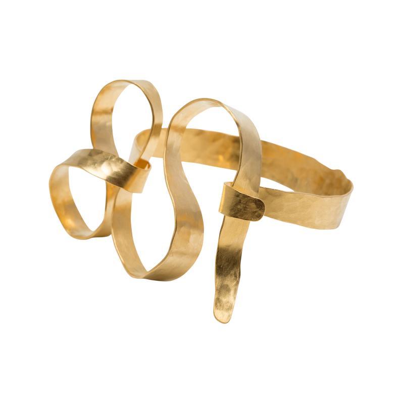 Jacques Jarrige Gold Plated Bracelet by Jacques Jarrige Meanders