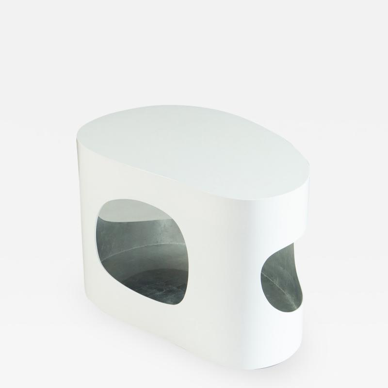 Jacques Jarrige Lacquered white Side Table or Coffee table Cloud by Jacques Jarrige