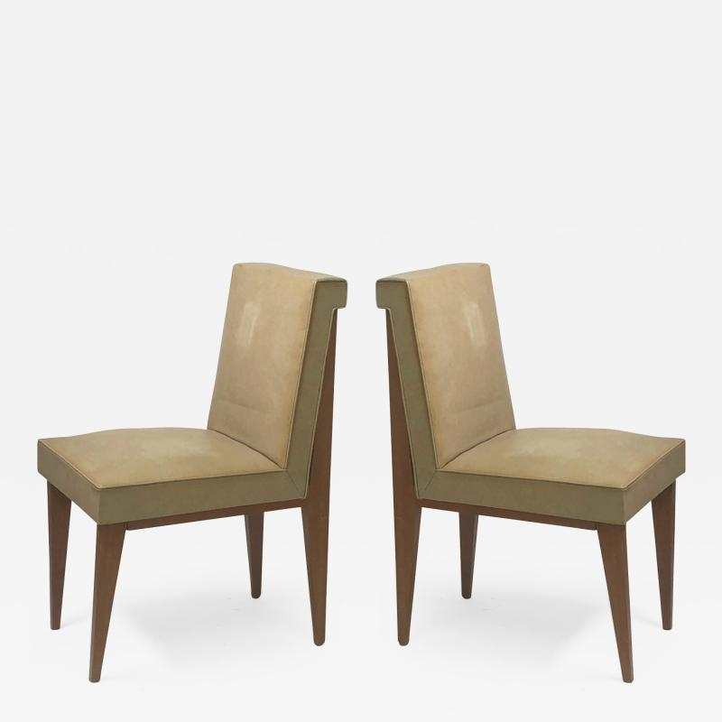 Jacques Quinet Jacques Quinet superb genuine pair of chairs in vintage condition
