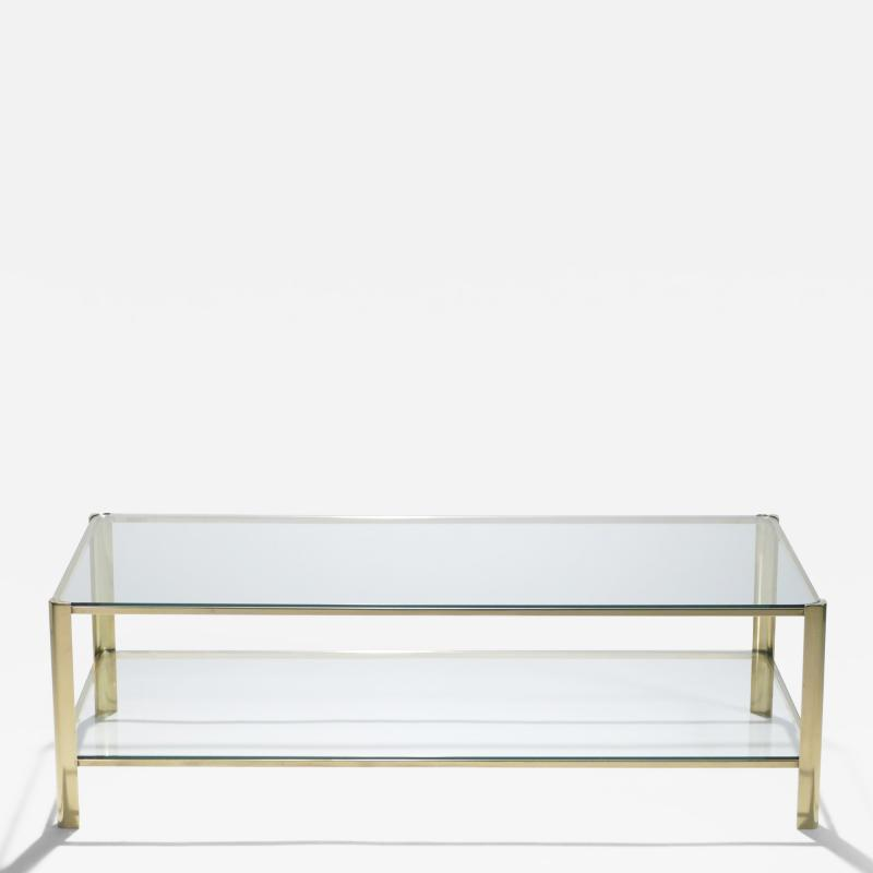 Jacques Quinet Signed bronze two tier coffee table Jacques Quinet for Broncz 1960s