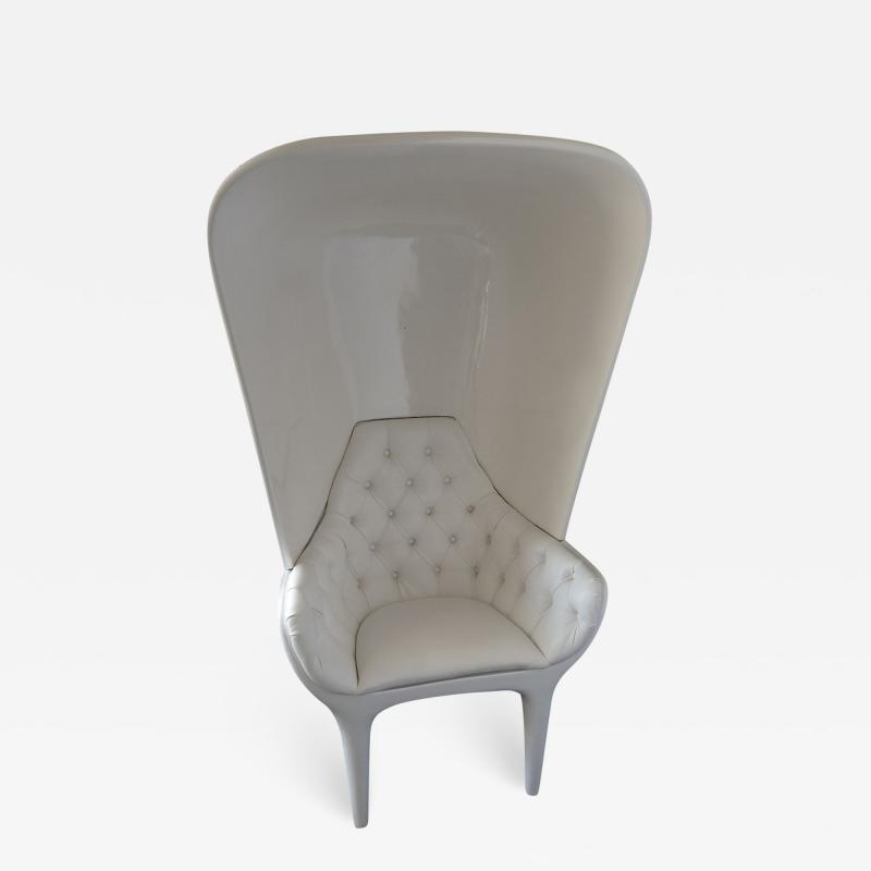 Jaime Hayon Jaime Hayon Showtime Armchair White Lacquered with Cover