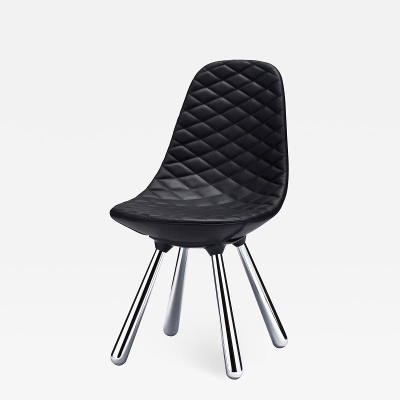 Jaime Hayon SH440 chair w out arms chrome black leather diamond