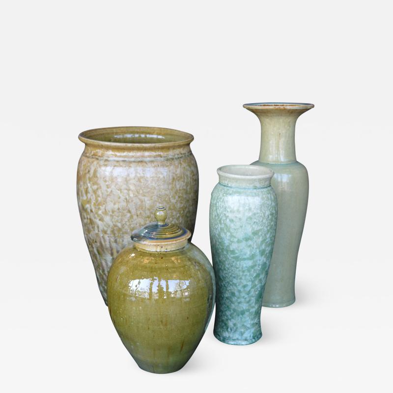 James Fox Collection of Crystalline Glazed Ceramics in Green