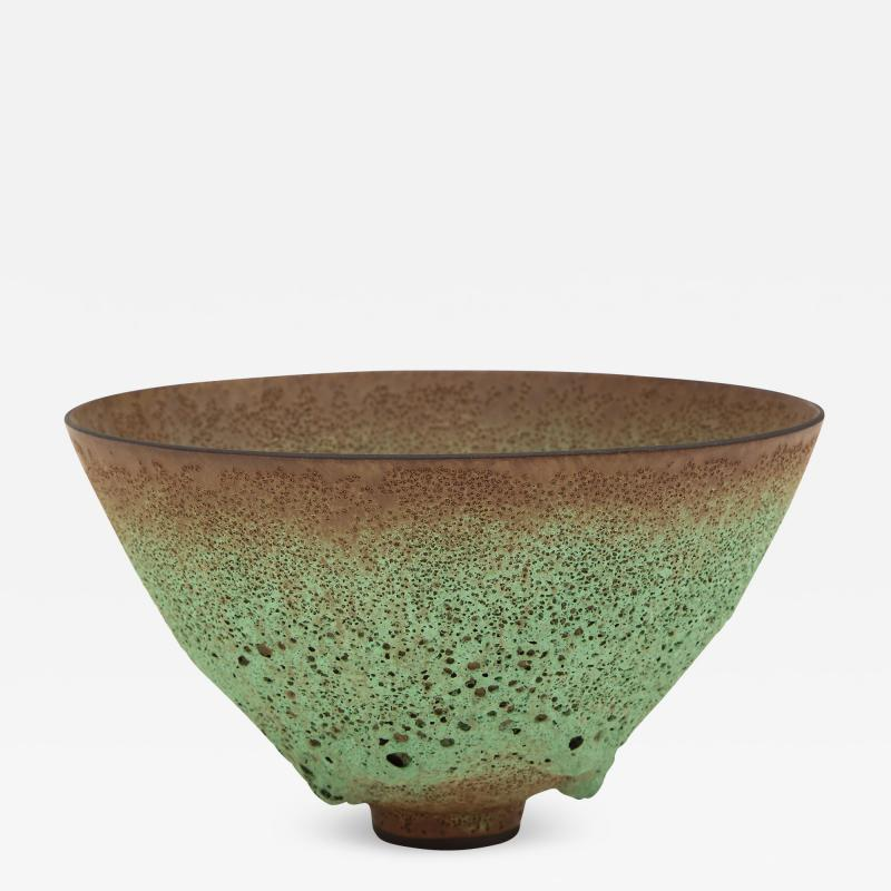 James Lovera James Lovera bowl in a green lave glaze United States