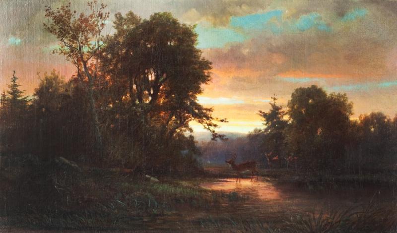 James McDougal Hart Wooded Landscape