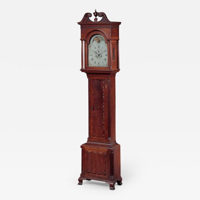 James McDowell CHIPPENDALE TALL CASE CLOCK Case Labeled by James and Daniel McDowell